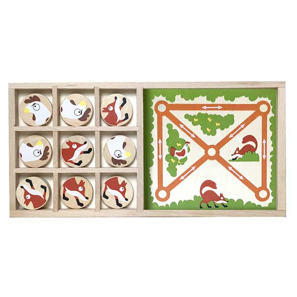 Fox Vs Chickens - Tic Tac Toe & Farm Chase Game